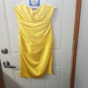 Strapless Yellow David's Bridal size 2 Dress